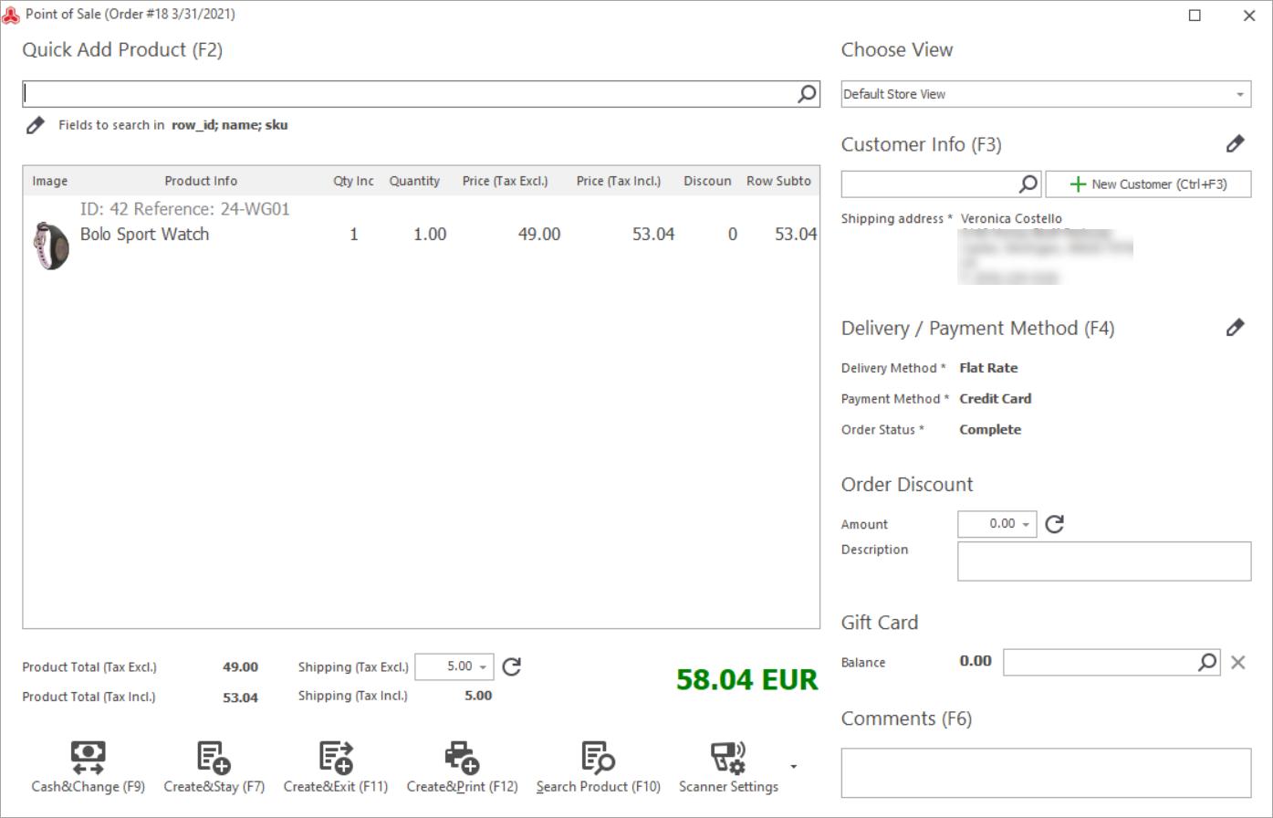 Magento Store Manager new POS design