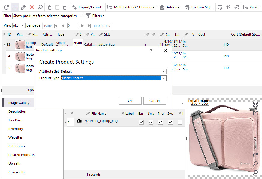 Create Bundle Products with Store Manager
