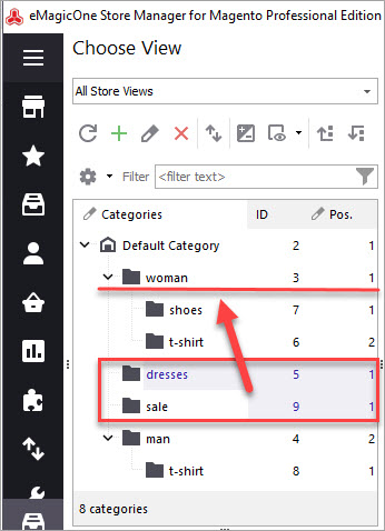 Drag and Drop Categories with Store Manager