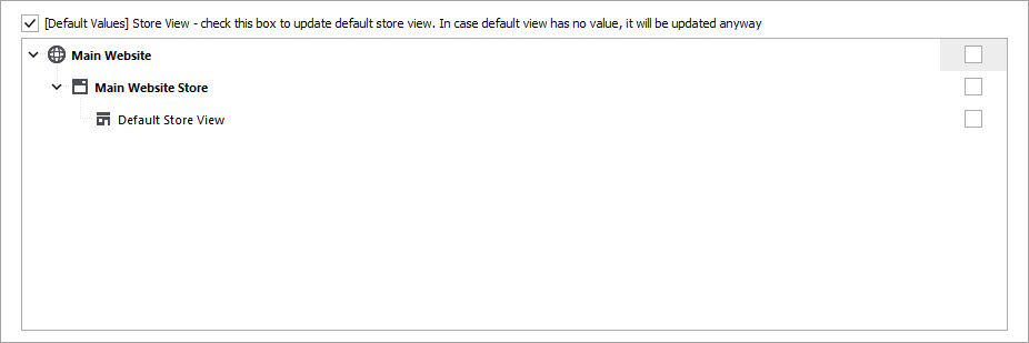 Select Store View for Products Import