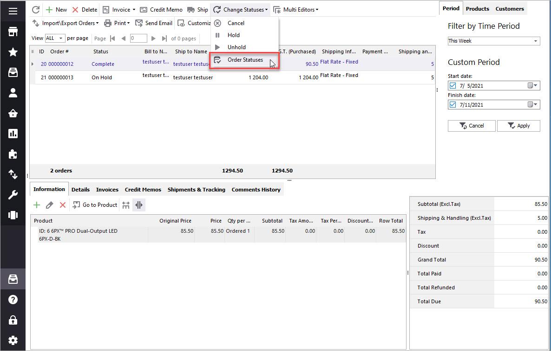 Manage Magento Order Statuses