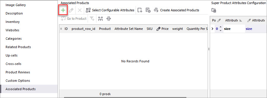 Add Associated Products