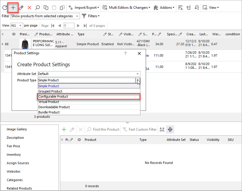 Create New Configurable Product
