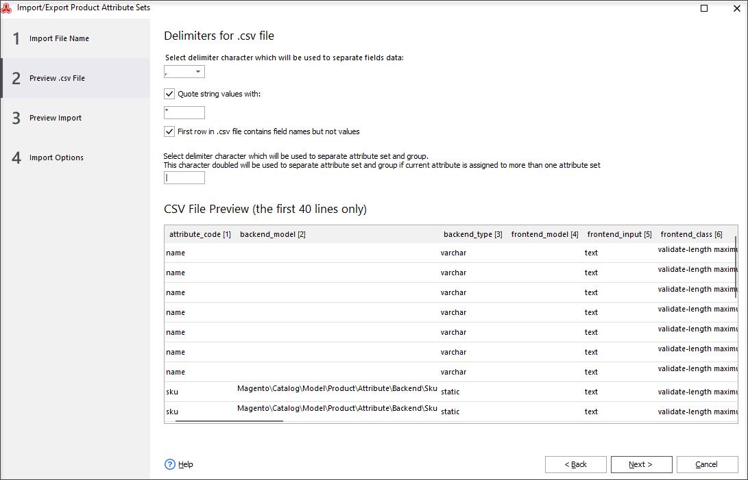 Configure Import Settings