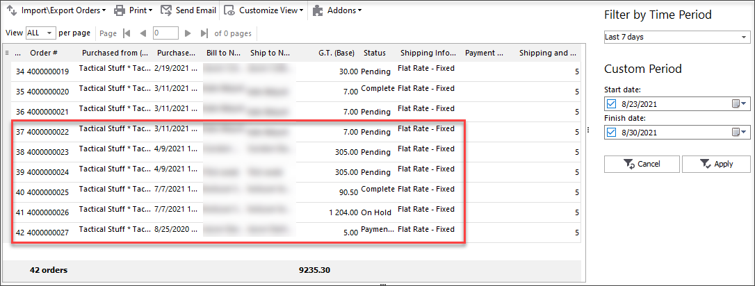 View Orders Imported to Magento and Added to Existing Ones