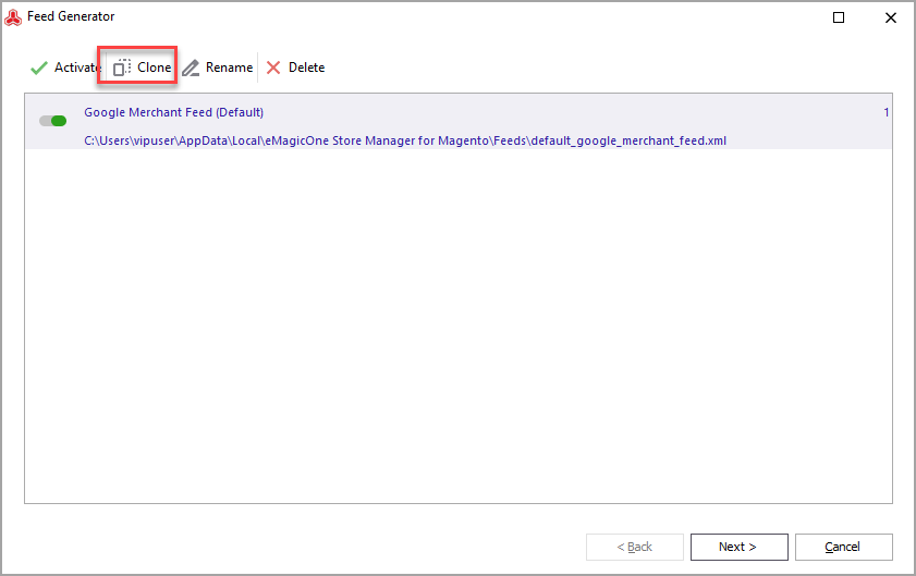 Magento Feed Generator Google Merchant Template